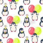 Geburtstag Des Pinguins Vektor Ornament