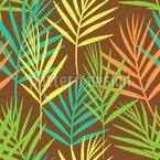 Verwehte Palmwedel Nahtloses Vektormuster