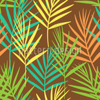Withered Palm Fronds Vector Pattern