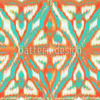 Organic Ikat Seamless Vector Pattern Design