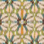 Organische Ikat Blumen Rapport