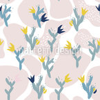 Delicate Cactus Seamless Vector Pattern Design
