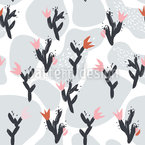 Cactus Melancholy Seamless Vector Pattern Design