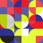 Bauhaus Geometría Estampado Vectorial Sin Costura