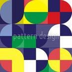 Formas e princípios básicos Design de padrão vetorial sem costura