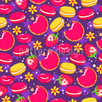 Macaroons And Lips Pattern Design