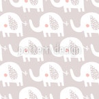 Nursery Elephant Seamless Vector Pattern Design
