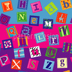 Quirky Alphabet Seamless Vector Pattern Design