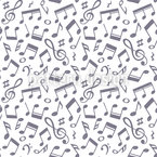 Hand Drawn Music Notes Seamless Vector Pattern Design