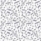 Hand gezeichnete Musiknoten Vektor Design