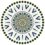 Blumen Punkte Und Kreise Nahtloses Vektormuster