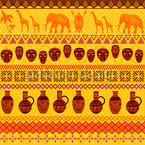 African Motifs Seamless Vector Pattern Design
