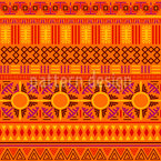 Tribal Suns Seamless Vector Pattern Design