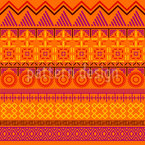 Multiple suns Seamless Vector Pattern Design