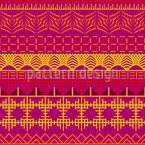 Abstract Orient Seamless Vector Pattern Design