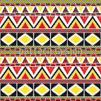 African Tribal Border Seamless Vector Pattern