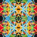 Buntes Wirrwarr Vektor Muster