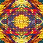 民俗学的な光るドット シームレスなベクトルパターン設計