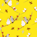 Lovebirds Yellow Seamless Vector Pattern Design