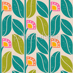 Return Of The Retro Flowers Seamless Vector Pattern Design