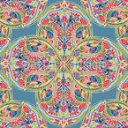 Árabes vibrantes Design de padrão vetorial sem costura