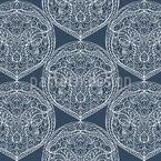 Symmetrische Arabesken Rapportiertes Design
