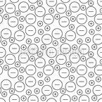 Aniões e Kations em Movimento Design de padrão vetorial sem costura
