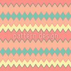 ジグザグのみ シームレスなベクトルパターン設計