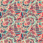 Desenho Radiante Design de padrão vetorial sem costura
