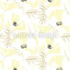 Schneebedeckte Mohnblume Nahtloses Vektor Muster