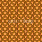 Honig Waben Siebziger Nahtloses Vektormuster