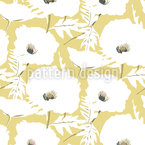 Elegant Poppy Field Seamless Vector Pattern Design