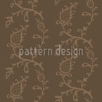 Cinderella Brown Seamless Vector Pattern Design