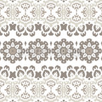 Meshed Flowers Seamless Pattern
