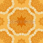 Flor de Mandala Oriental Design de padrão vetorial sem costura