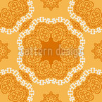 Orientalische Mandalablüten Nahtloses Vektormuster
