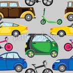 Autos Fahrräder Und Tretroller Designmuster