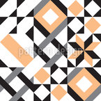 Abstract Of Geometric Elements Repeating Pattern