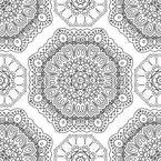 Florale Achtecke Musterdesign