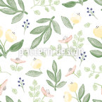Small Watercolor Flowers Seamless Vector Pattern Design