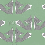 Origami Fox Seamless Vector Pattern Design
