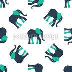 Stilisierte Elefanten Nahtloses Vektor Muster