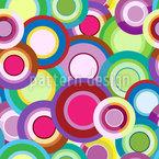 Círculos Multicoloridos E Design de padrão vetorial sem costura