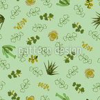 Succulent Love Seamless Vector Pattern Design