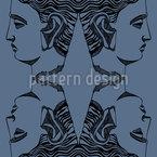Antiker Kopf Vektor Muster