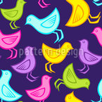 Family Of Birds Seamless Vector Pattern Design