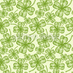 Four Leaf Clover Seamless Vector Pattern Design