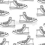 Sketch Of Sneakers Vector Ornament