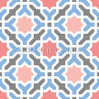 Oriental Tile Work Pattern Design