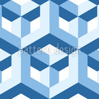 Pseudo Cubes Seamless Vector Pattern Design